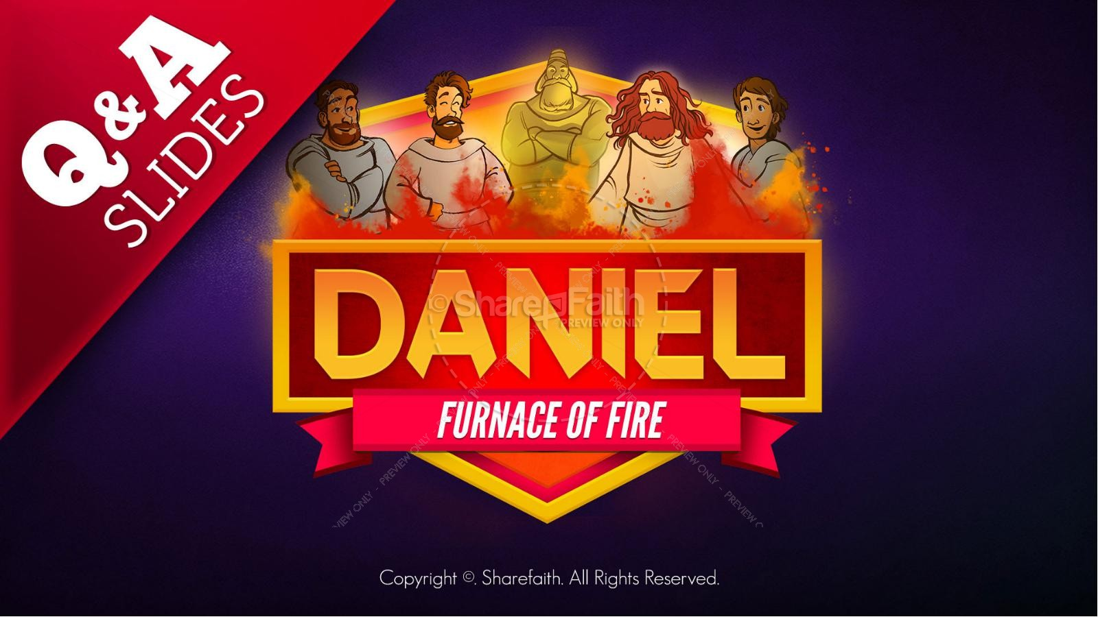 Daniel 3 The Furnace of Fire Kids Bible Story | slide 9