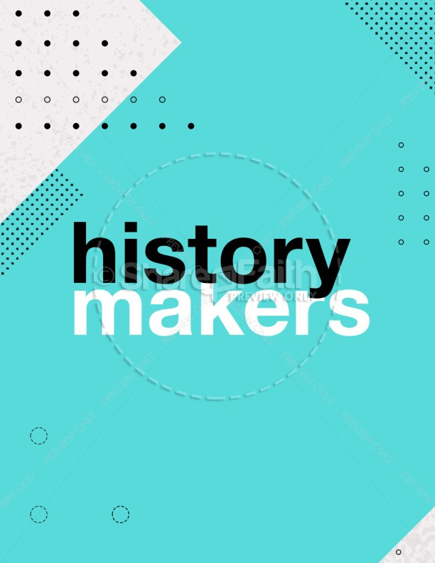 History Makers Church Sermon Flyer | page 1