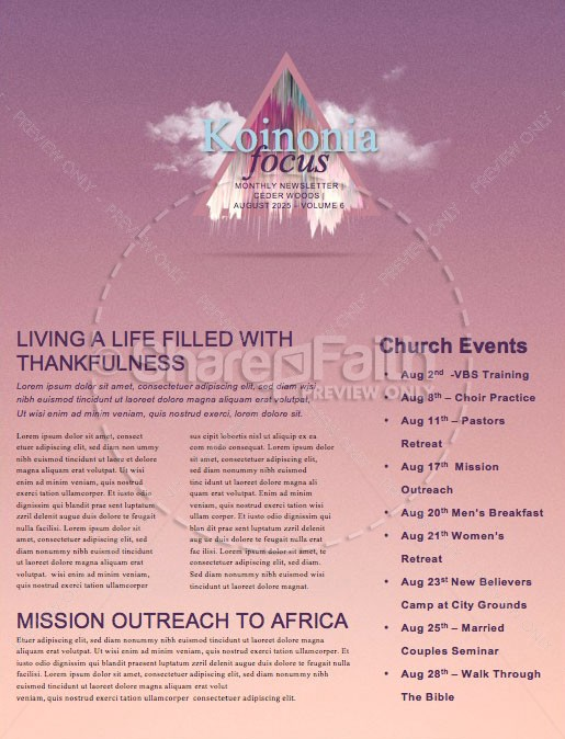 Expect More Church Sermon Newsletter | page 1
