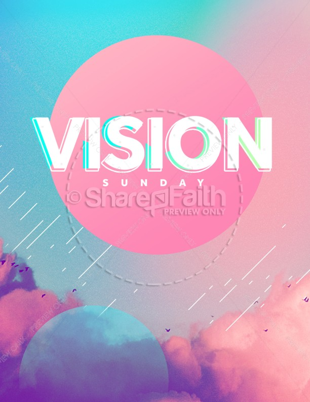 Vision Sunday Bright and Colorful Church Service Flyer | page 1