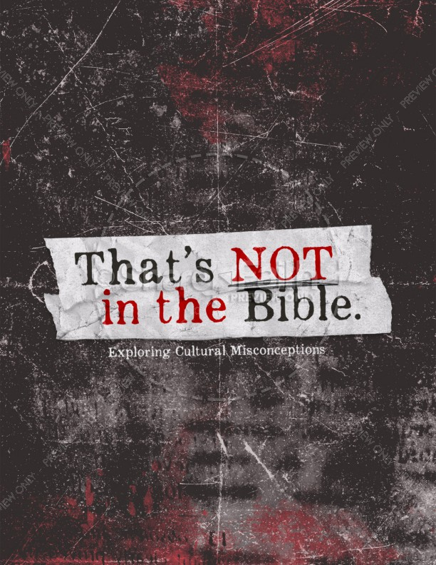 That's Not In The Bible Church Sermon Flyer   page 1