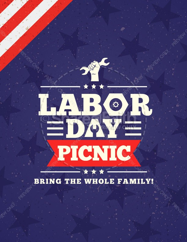 Labor Day Picnic Church Flyer