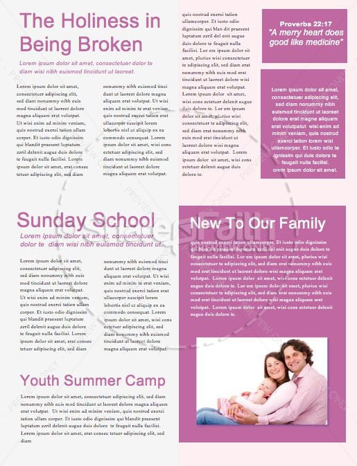Vision Sunday Bright and Colorful Church Service Newsletter | page 2