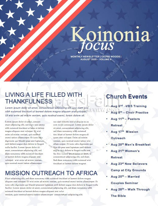 Labor Day Picnic Church Newsletter
