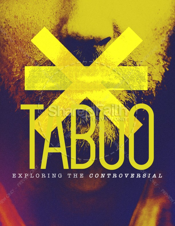 Taboo Sermon Flyer Template | page 1