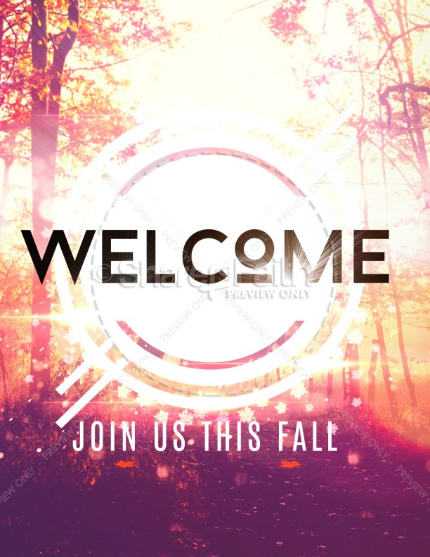 Fall Welcome Church Flyer Template | page 1