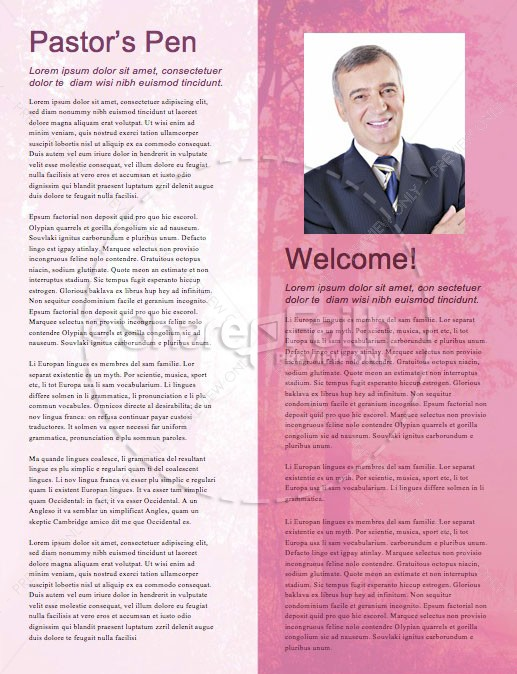 Fall Welcome Church Newsletter Template   page 3