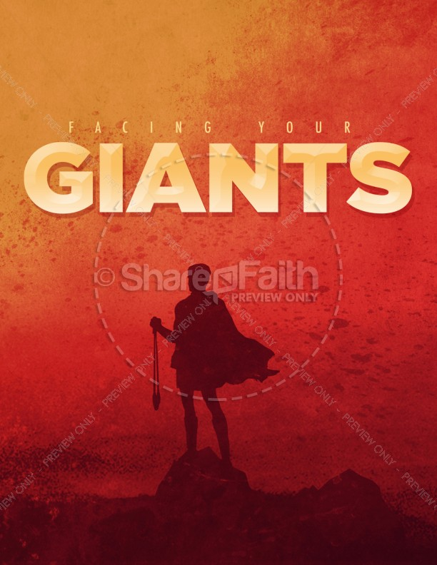Facing Your Giants Church Sermon Flyer
