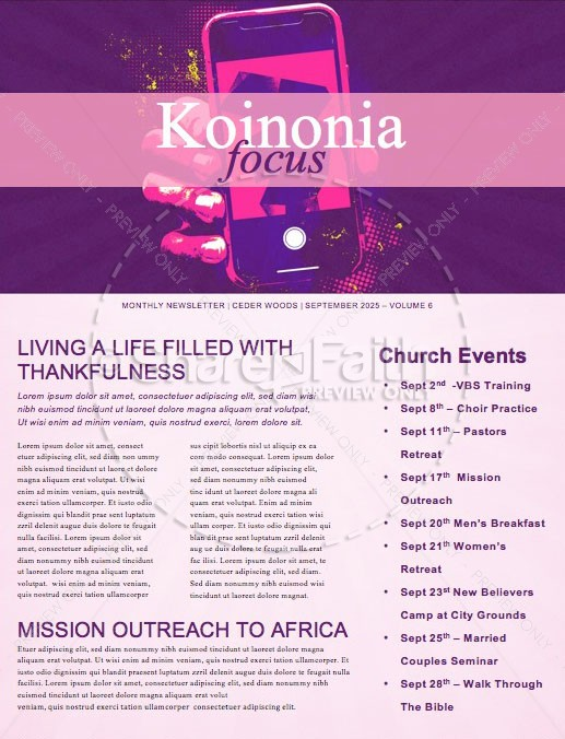 Death to Selfie Church Sermon Newsletter | page 1