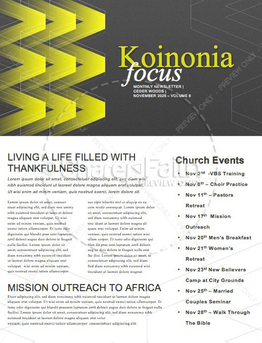 We > Church Sermon Newsletter | page 1