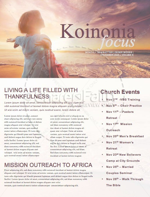 Unhindered Church Media Newsletter | page 1