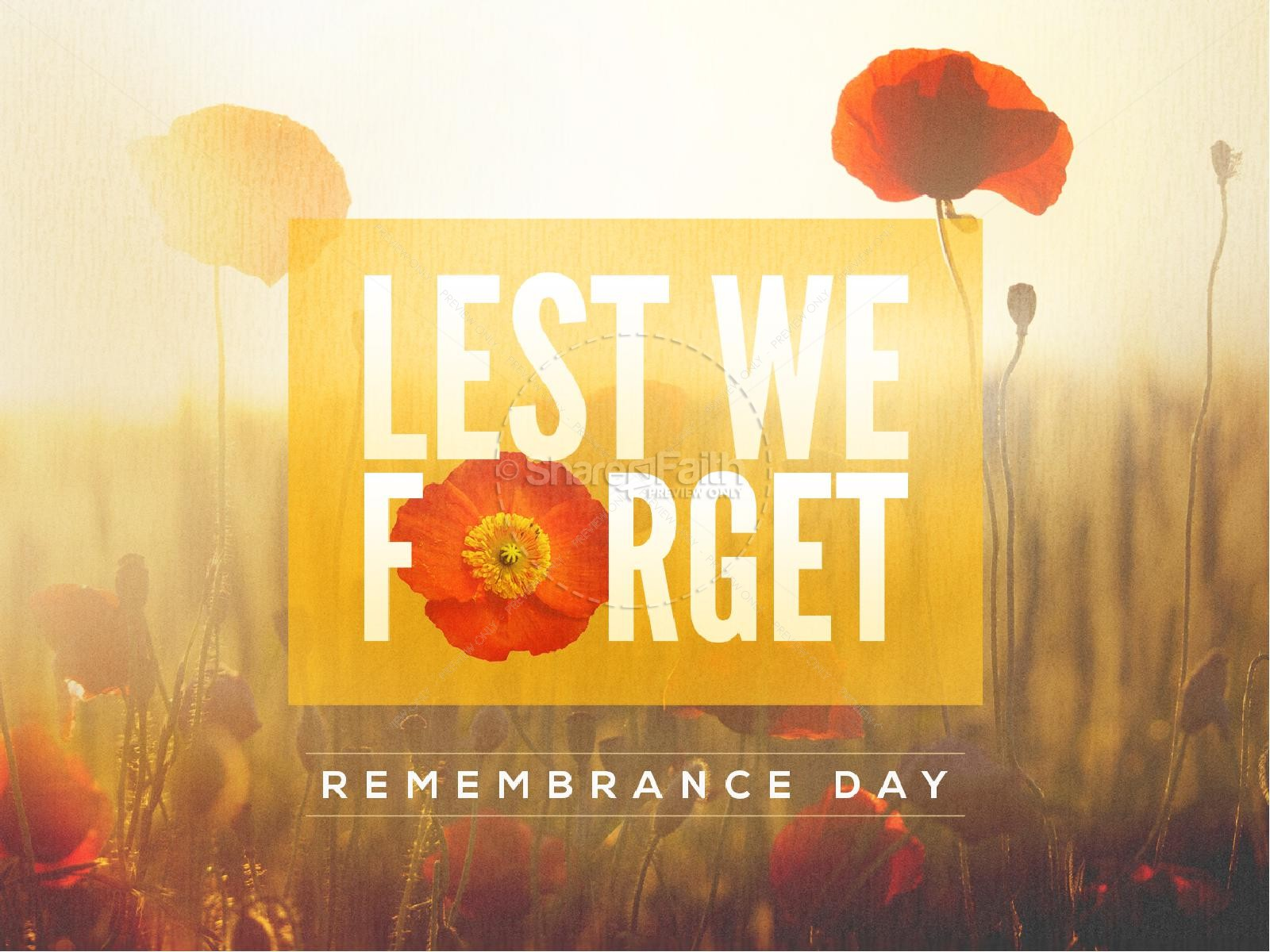 Lest We Forget Poppy Powerpoint | slide 1