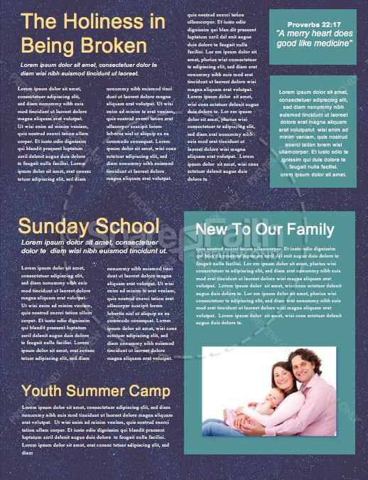 Advent Season Church Service Newsletter | page 2