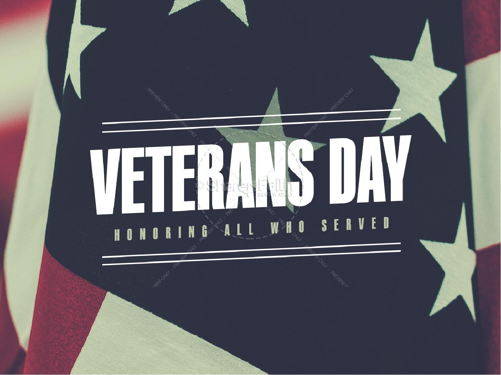 Veterans Day Honor Church Powerpoint