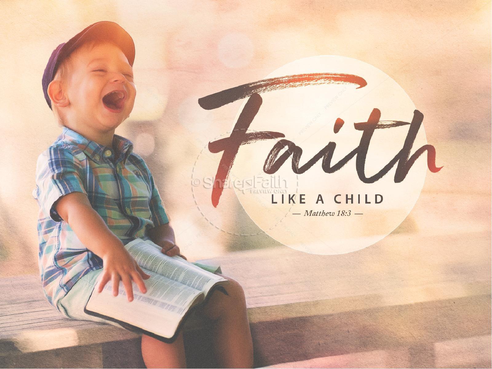 Faith Like A Child Church Powerpoint | slide 1