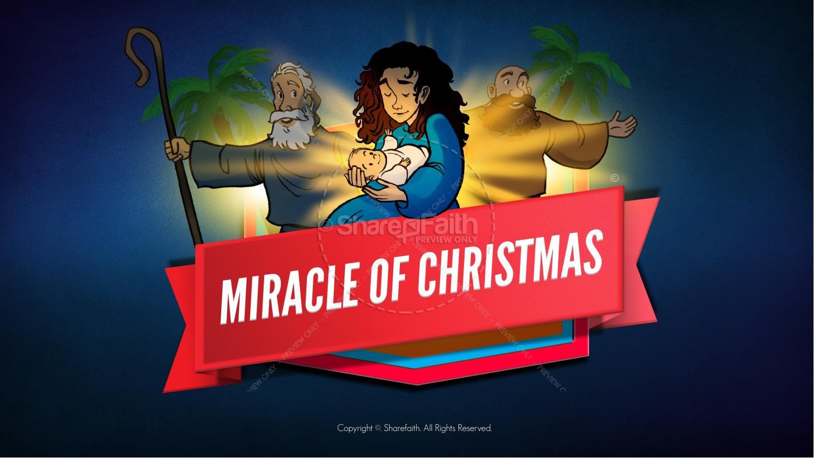 Luke 2 The Miracle of Christmas Kids Bible Story | slide 1