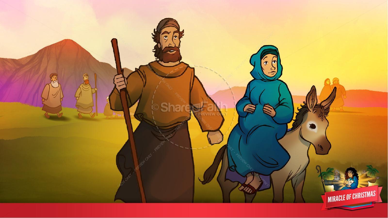 Luke 2 The Miracle of Christmas Kids Bible Story   slide 14
