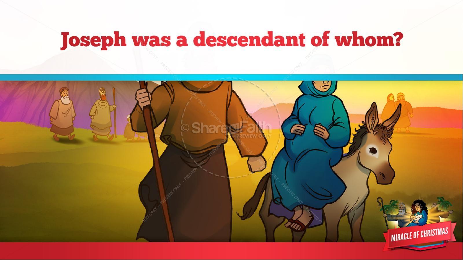 Luke 2 The Miracle of Christmas Kids Bible Story | slide 15