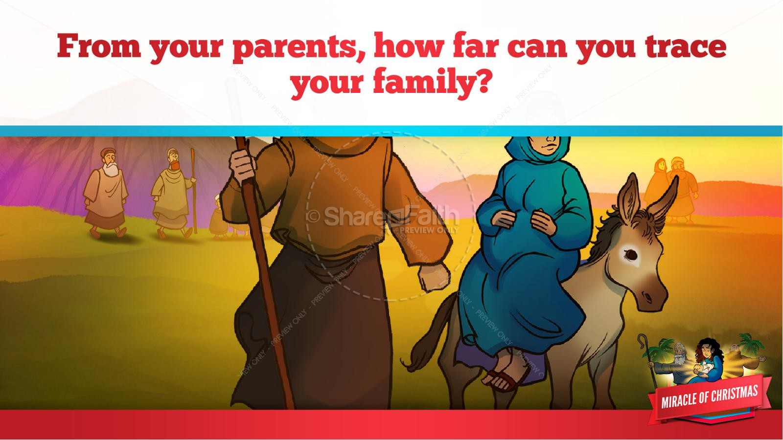 Luke 2 The Miracle of Christmas Kids Bible Story | slide 17
