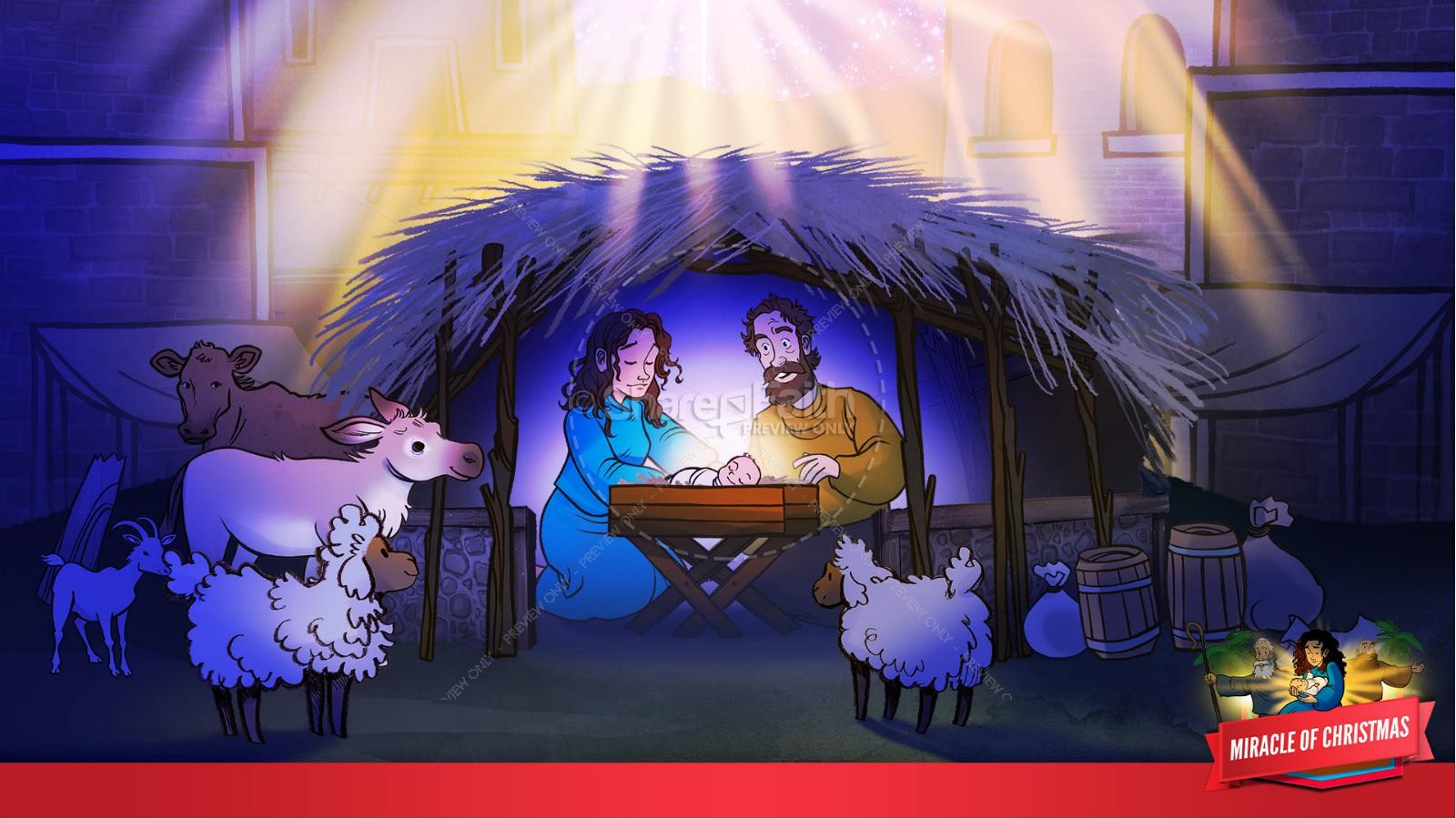 Luke 2 The Miracle of Christmas Kids Bible Story | slide 18