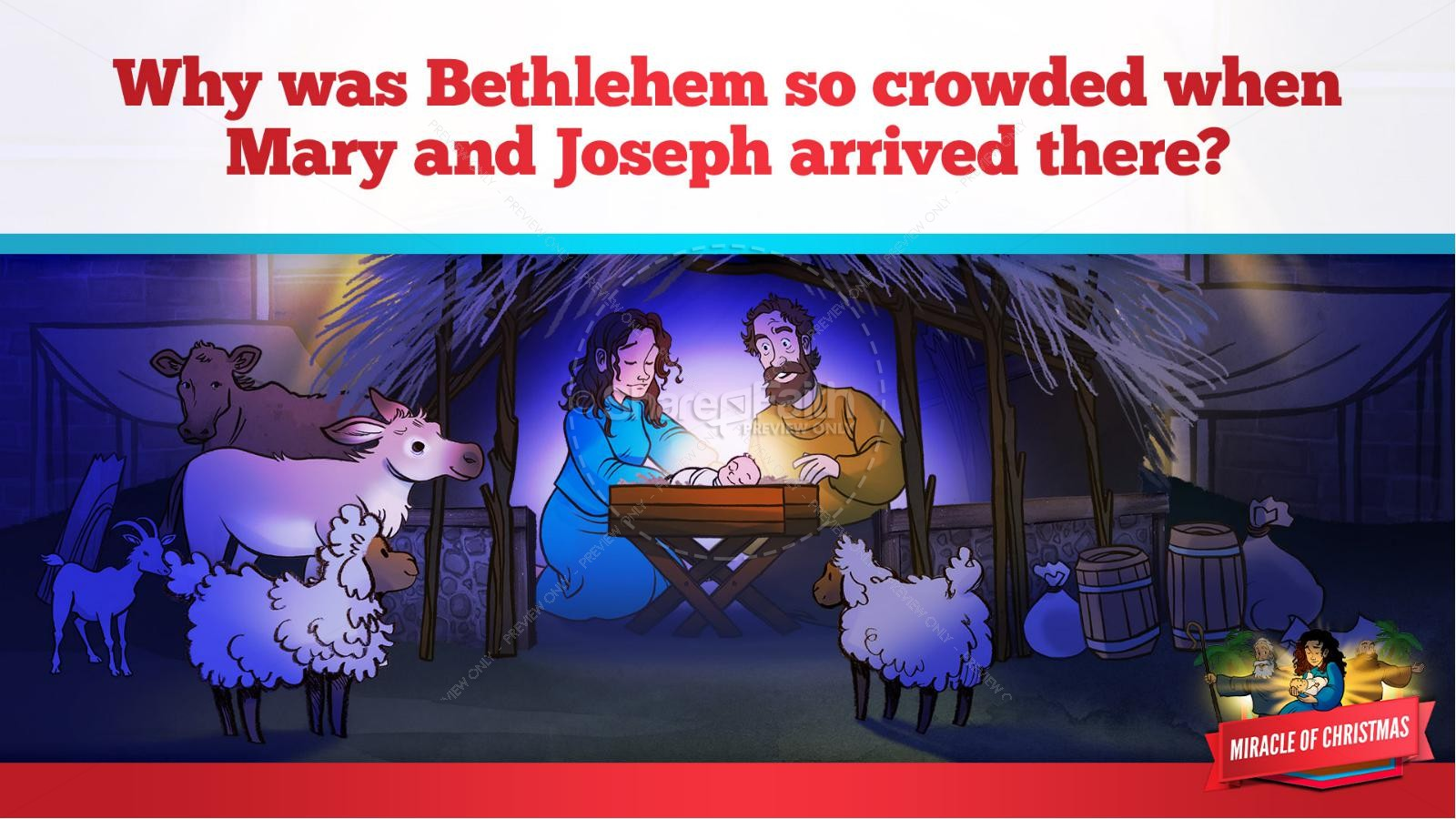 Luke 2 The Miracle of Christmas Kids Bible Story | slide 19
