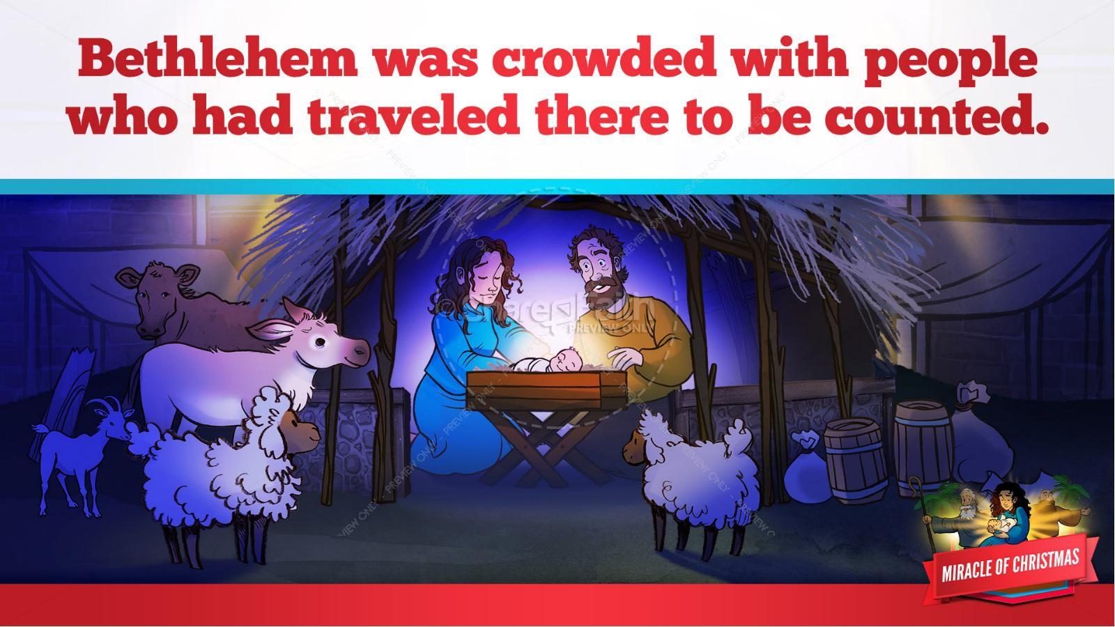 Luke 2 The Miracle of Christmas Kids Bible Story | slide 20