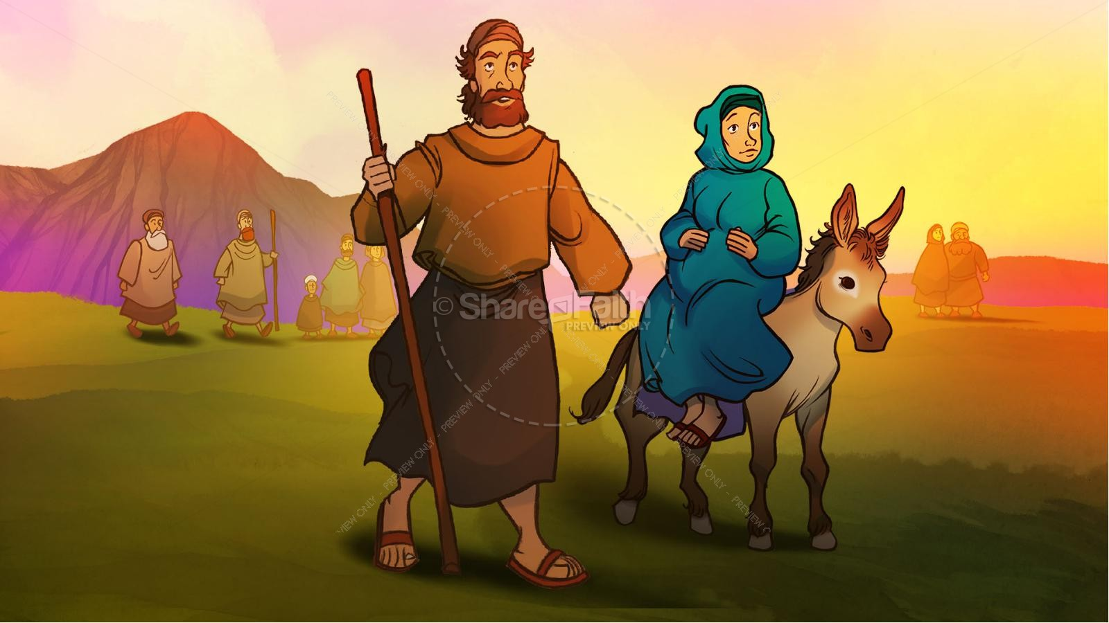 Luke 2 The Miracle of Christmas Kids Bible Story | slide 3