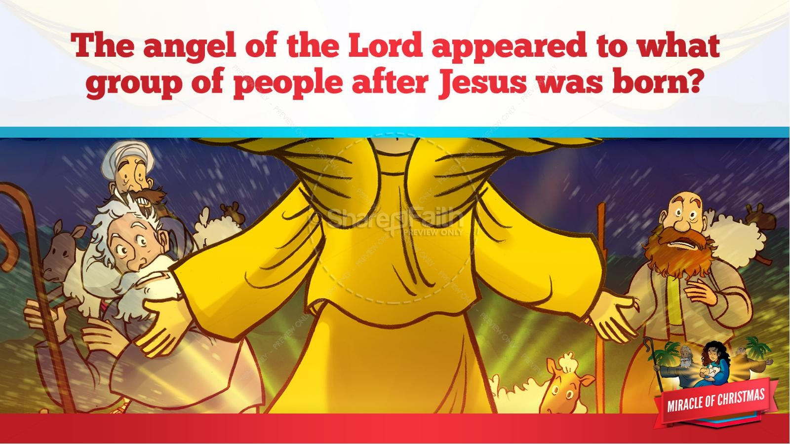 Luke 2 The Miracle of Christmas Kids Bible Story | slide 23