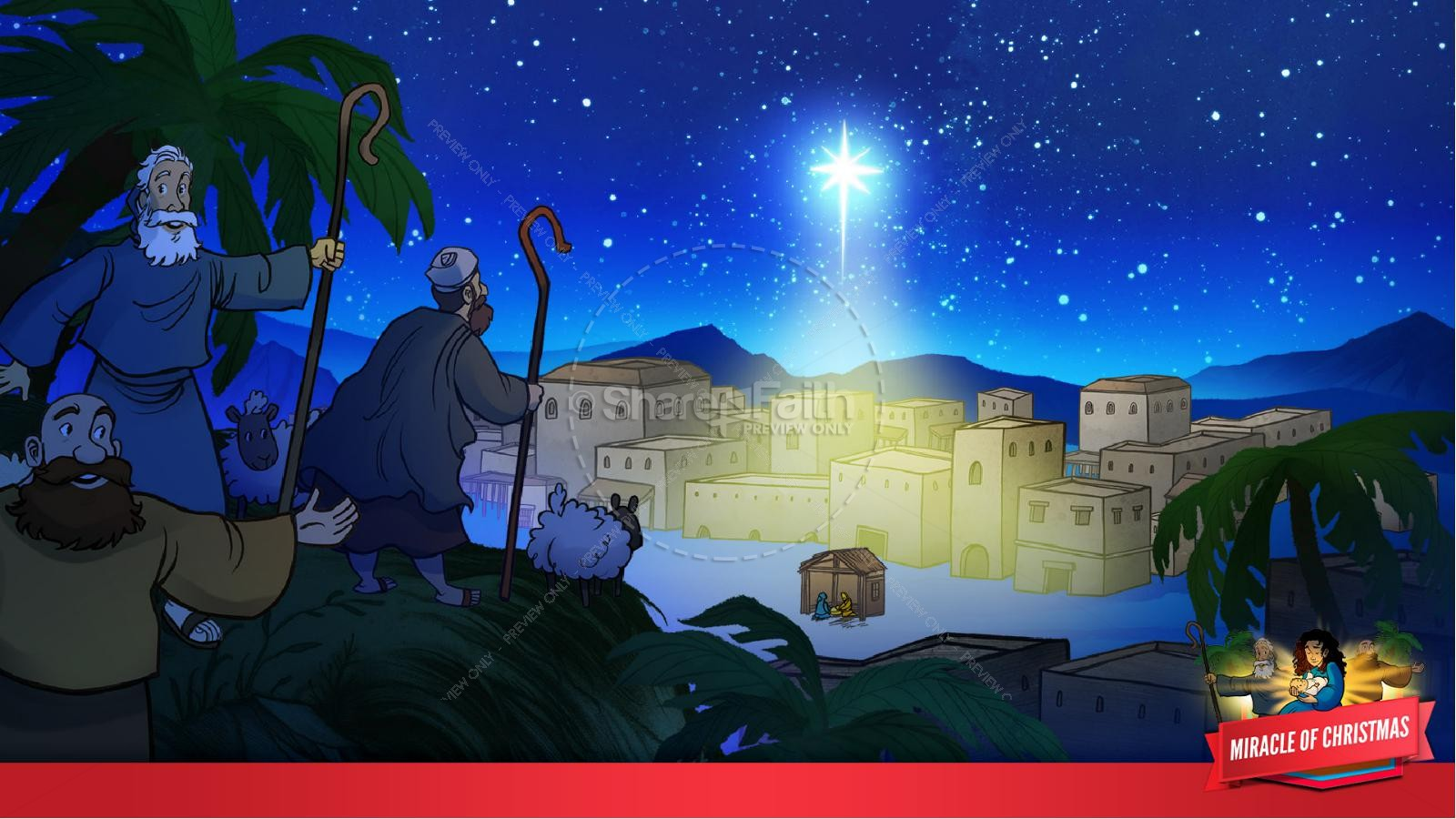 Luke 2 The Miracle of Christmas Kids Bible Story | slide 30