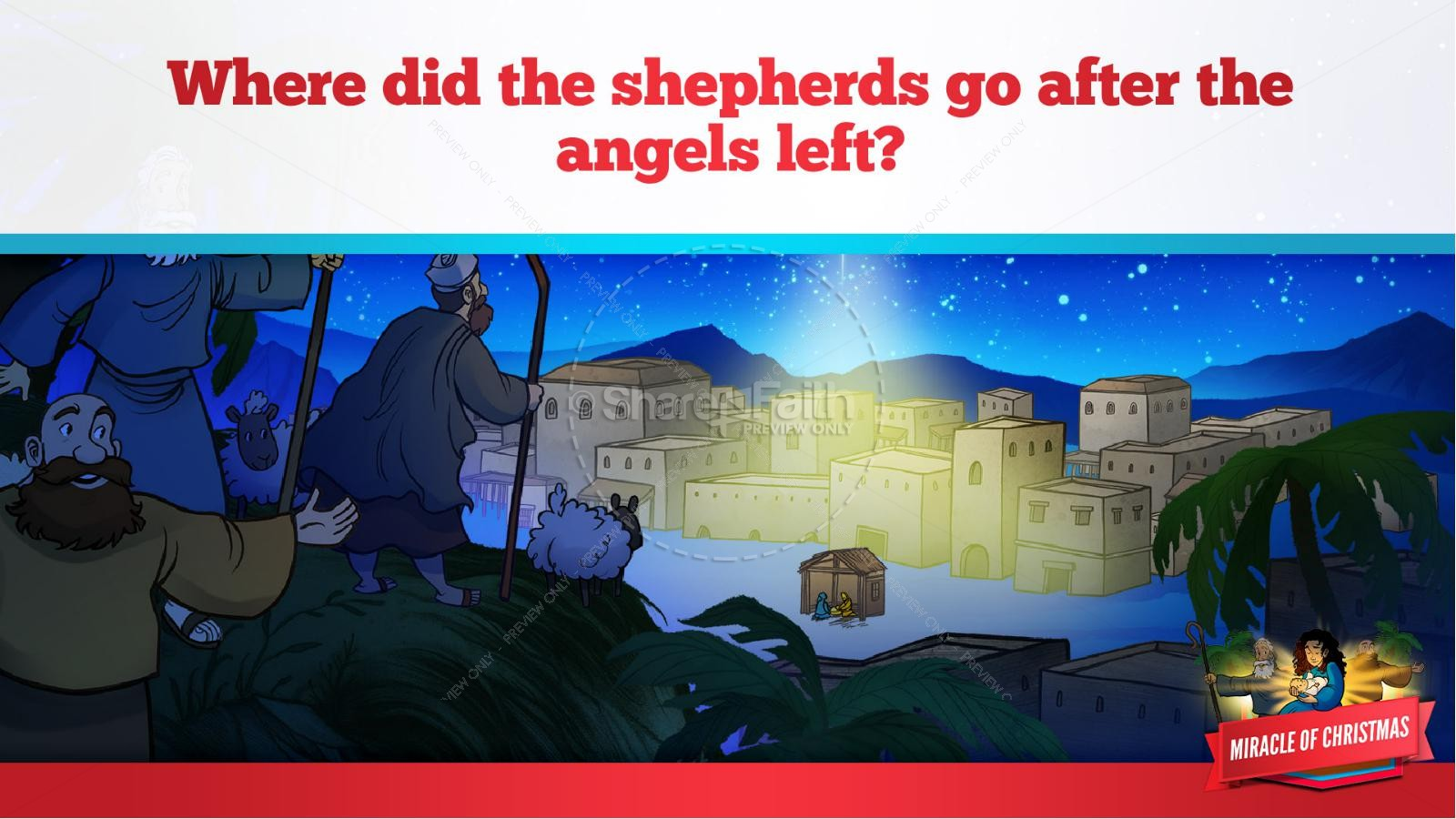 Luke 2 The Miracle of Christmas Kids Bible Story   slide 31