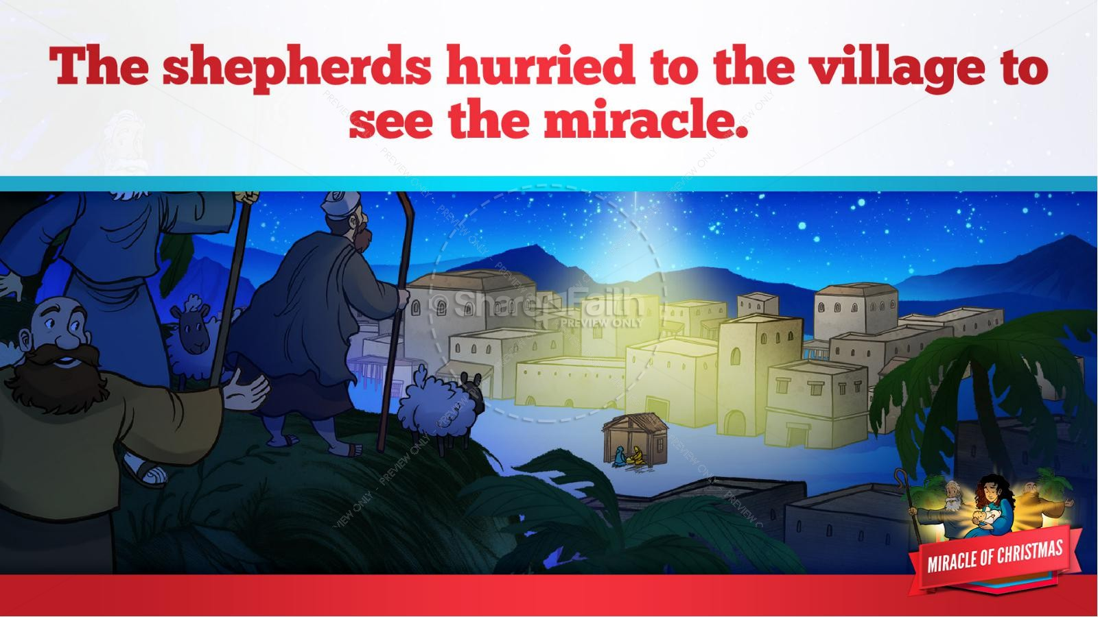 Luke 2 The Miracle of Christmas Kids Bible Story | slide 32
