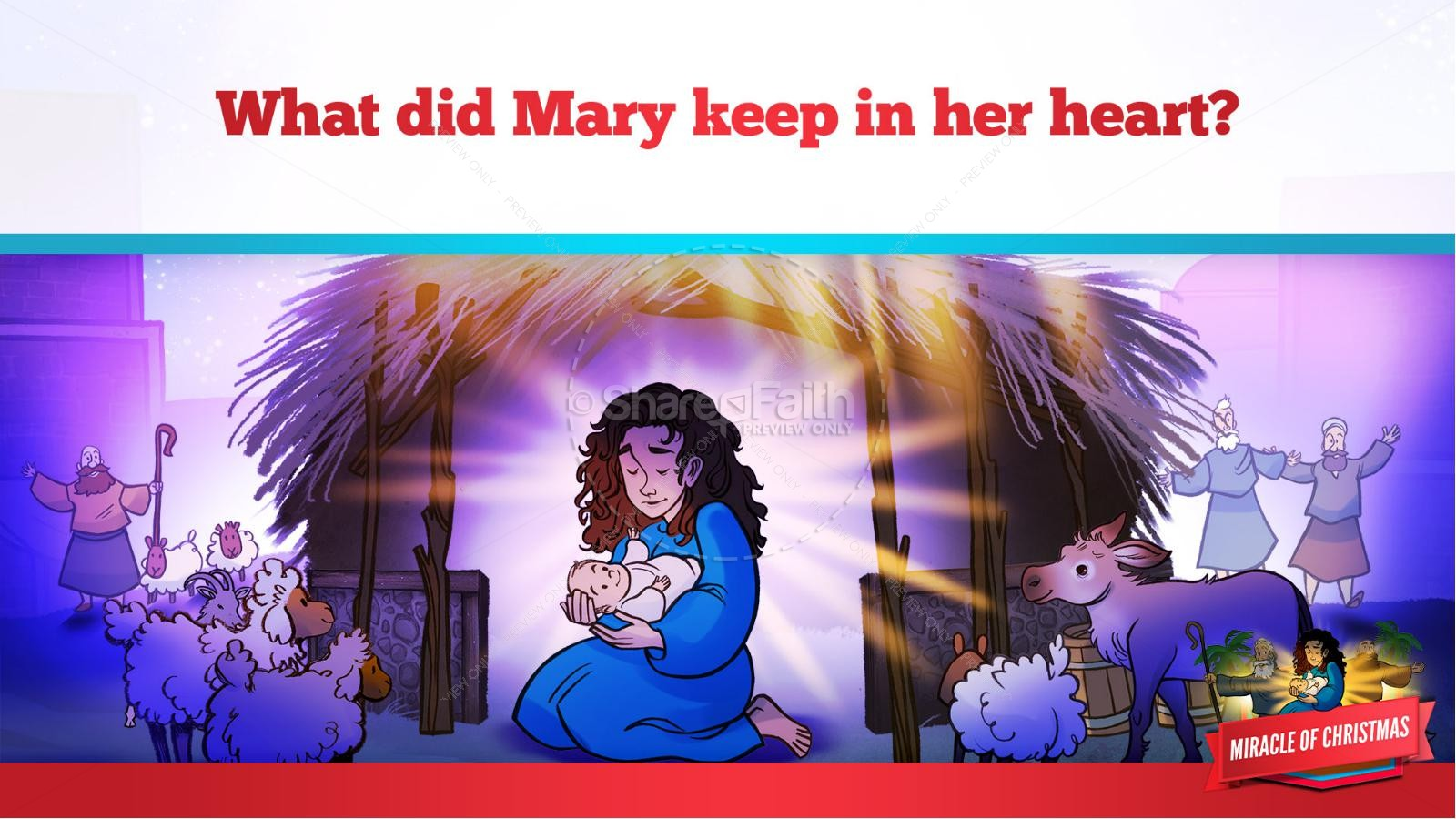 Luke 2 The Miracle of Christmas Kids Bible Story | slide 35