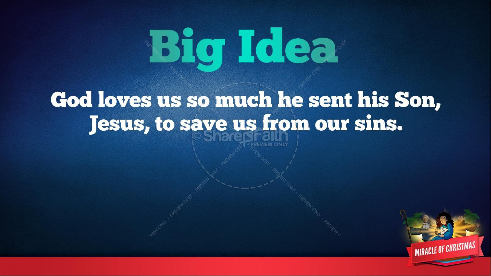 Luke 2 The Miracle of Christmas Kids Bible Story | slide 38
