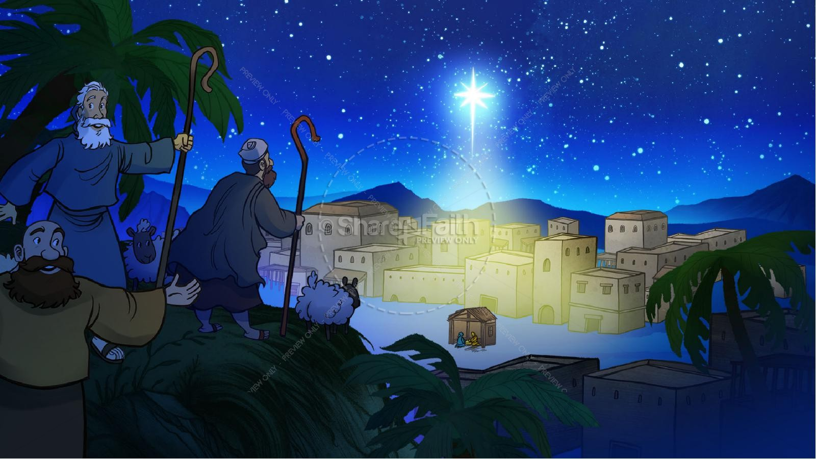 Luke 2 The Miracle of Christmas Kids Bible Story | slide 7
