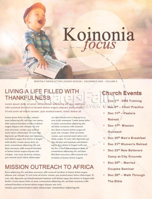 Faith Like A Child Church Newsletter | page 1