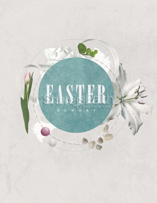 Easter Sunday Lily Church Flyer | page 1