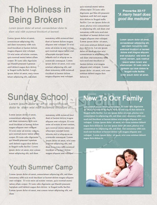 Easter Sunday Lily Church Newsletter   page 2
