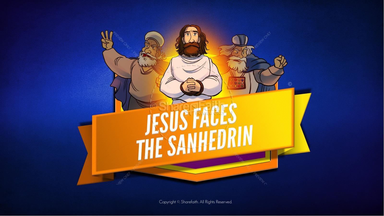 Matthew 26 Jesus Before the Sanhedrin Kids Bible Story | slide 1
