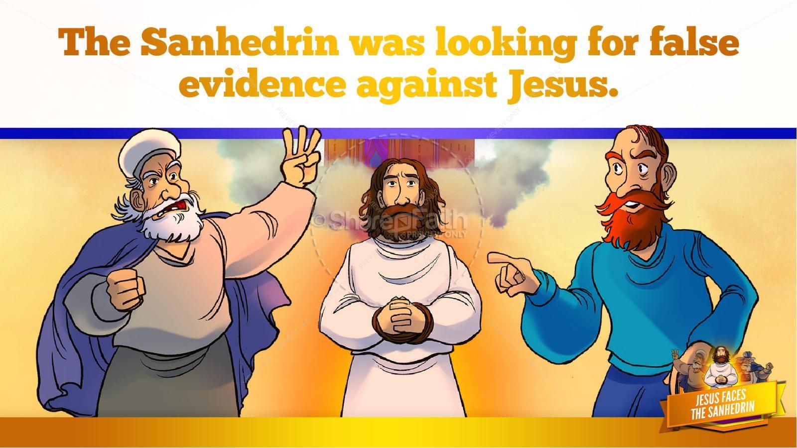 Matthew 26 Jesus Before the Sanhedrin Kids Bible Story | slide 16