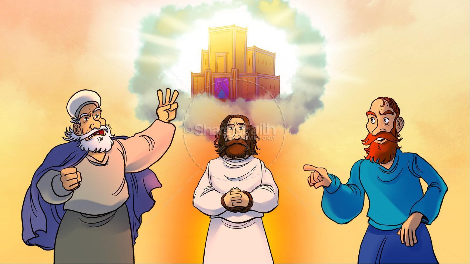 Matthew 26 Jesus Before the Sanhedrin Kids Bible Story | slide 3