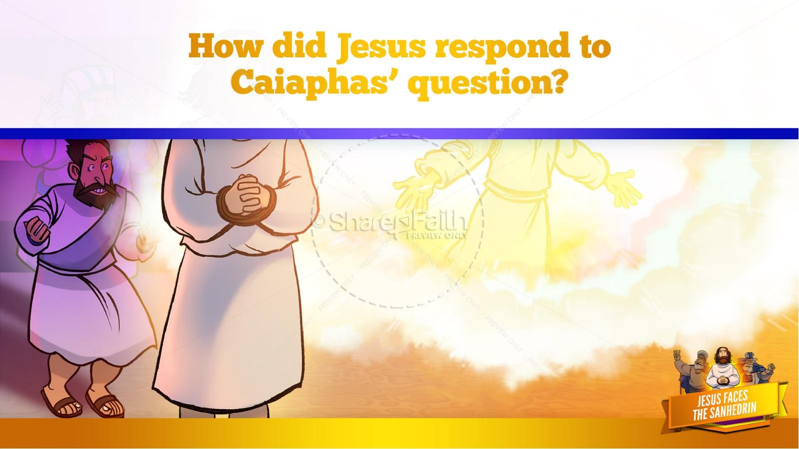 Matthew 26 Jesus Before the Sanhedrin Kids Bible Story   slide 27