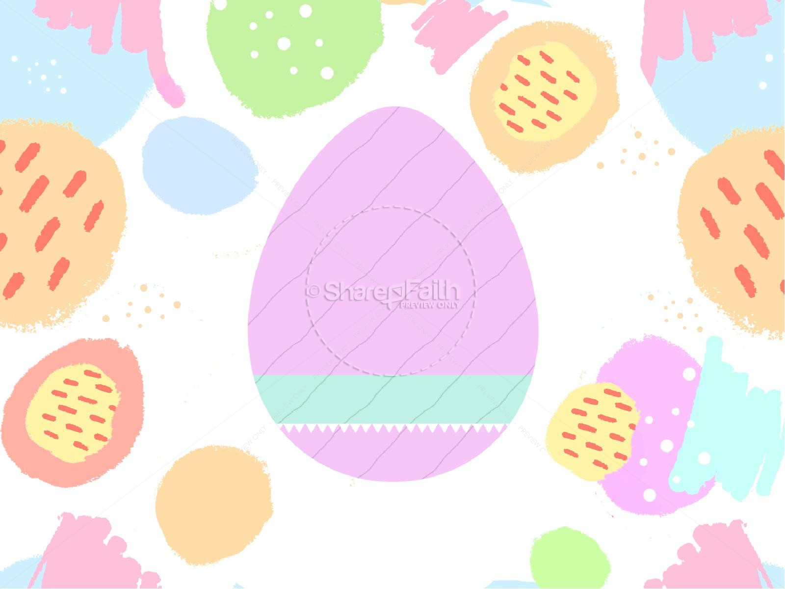 Easter Egg Hunt Pastel Church PowerPoint