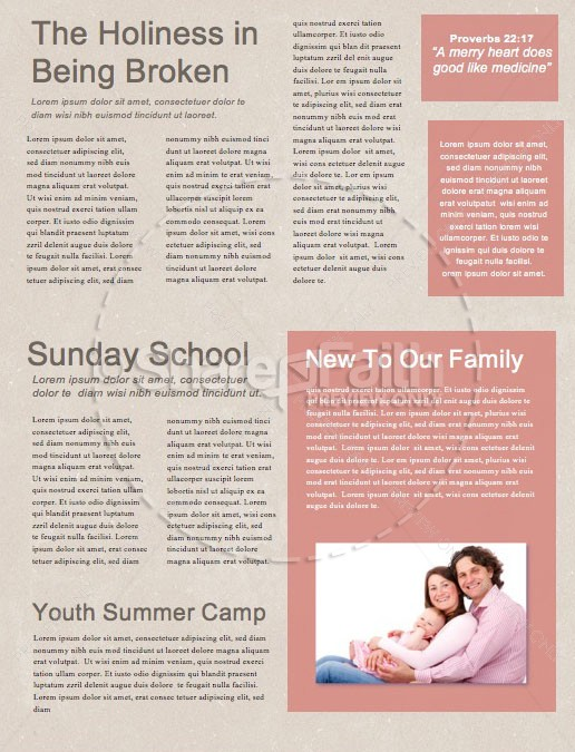 Palm Sunday Pink Church Newsletter | page 2