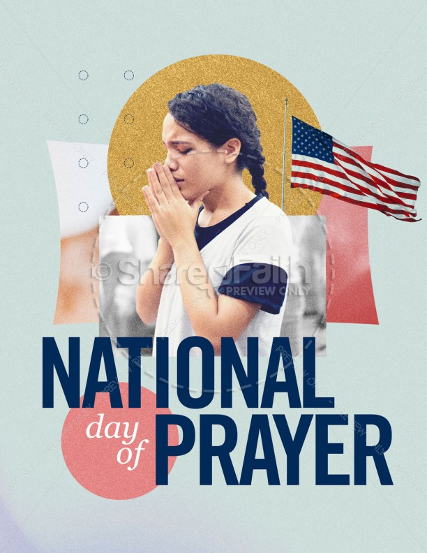 National Day Of Prayer Church Flyer | page 1