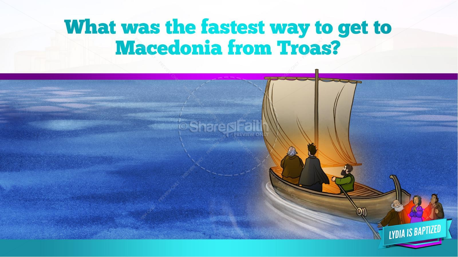 Acts 16 Lydia is Baptized Kids Bible Story   slide 19