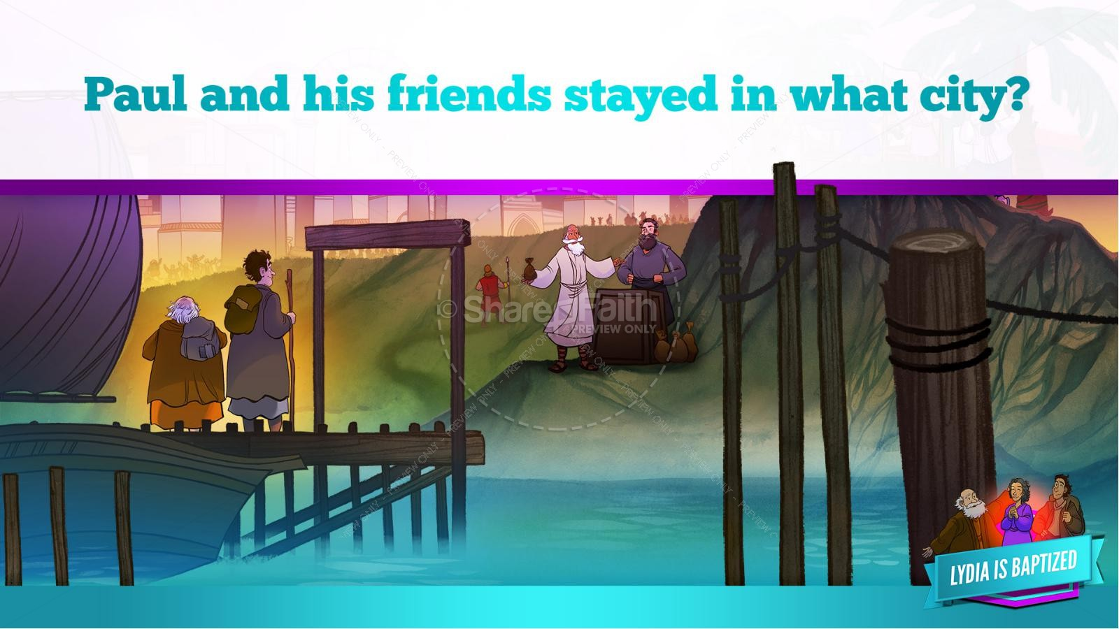 Acts 16 Lydia is Baptized Kids Bible Story   slide 23