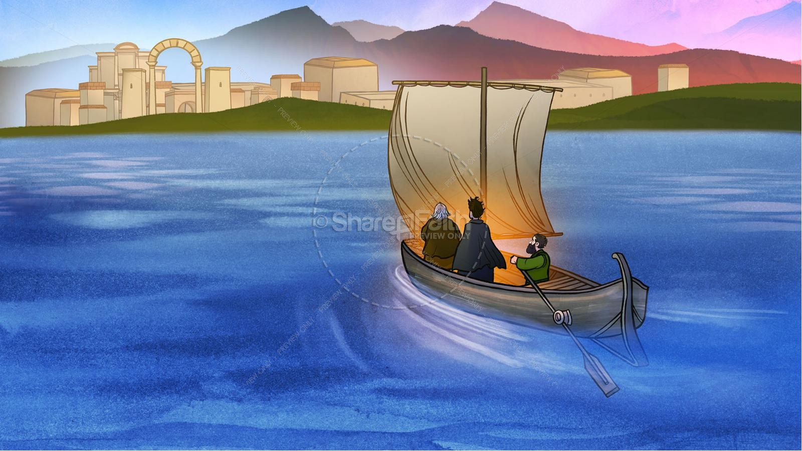 Acts 16 Lydia is Baptized Kids Bible Story | slide 4