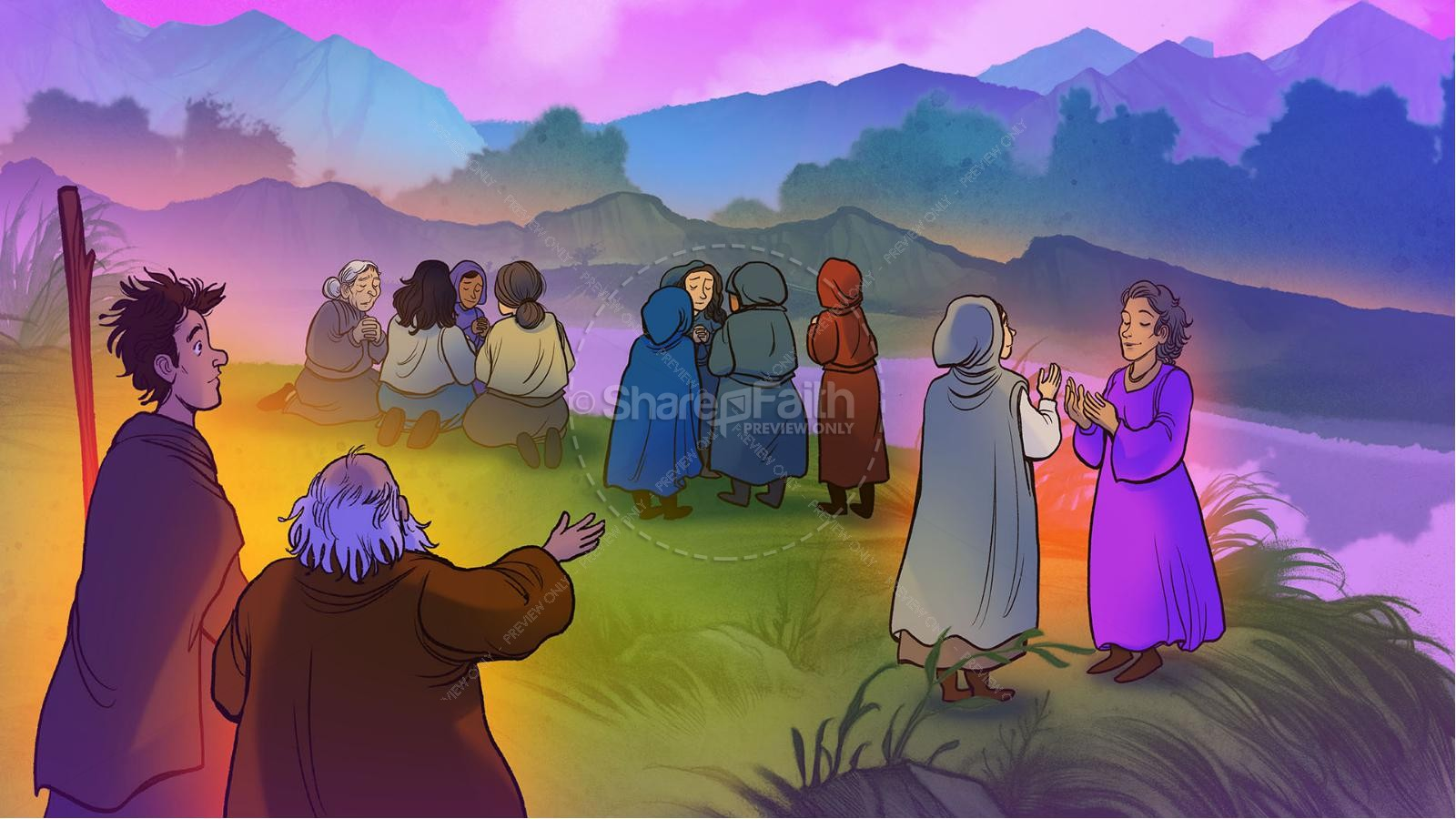 Acts 16 Lydia is Baptized Kids Bible Story | slide 6