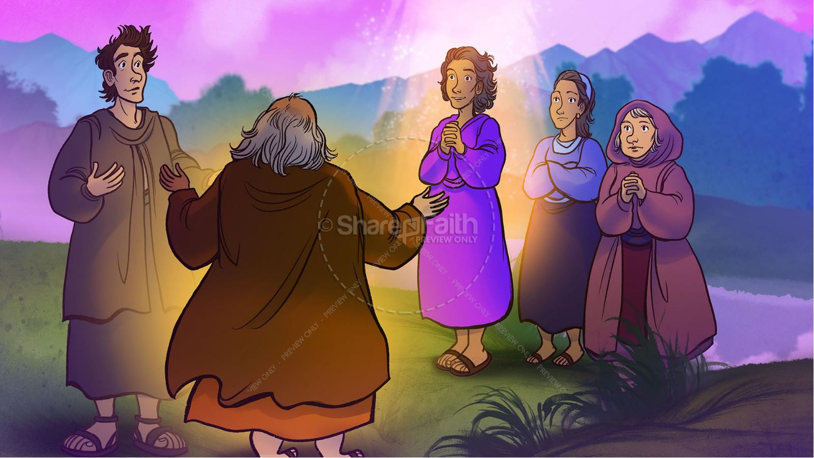 Acts 16 Lydia is Baptized Kids Bible Story   slide 7