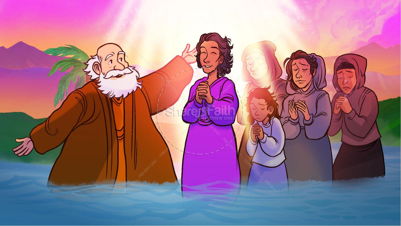 Acts 16 Lydia is Baptized Kids Bible Story | slide 8